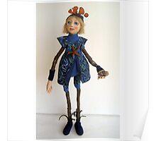 Water Spirit Nature Girl - art doll figurative sculpture  Poster