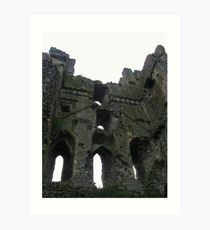 Castle Interior - Helmsley Castle Art Print