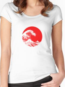 Hokusai, Kanagawa great wave Women's Fitted Scoop T-Shirt