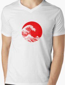 Hokusai, Kanagawa great wave Mens V-Neck T-Shirt