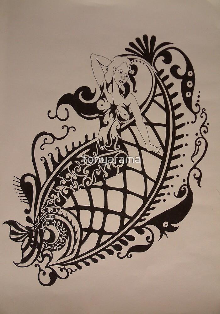 The Mermaid and The Fish by tonyarama