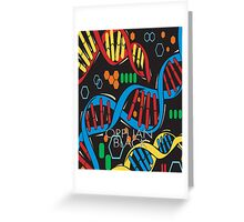 Cosima's laptop skin case Greeting Card