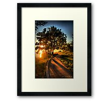 A Morning Stroll At the Lake Framed Print