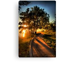 A Morning Stroll At the Lake Canvas Print