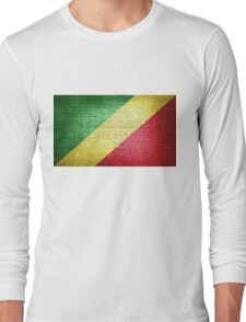 Flag of the Republic of the Congo Long Sleeve T-Shirt