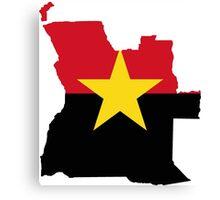 MPLA Flag Map of Angola Canvas Print