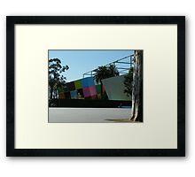 Museum Blocks Framed Print