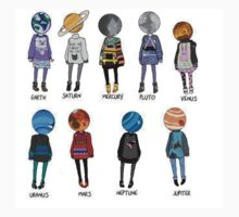 Hipster Planets Kids Clothes