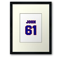 National football player John Scully jersey 61 Framed Print
