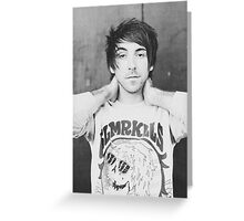 Alex Gaskarth of All Time Low inspired Greeting Card