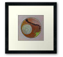 Mandala 1 - Moon And A Grape Stem Framed Print