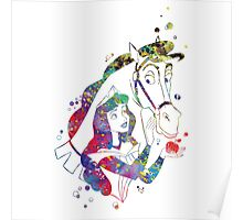 Aurora Disney Princess Watercolor Poster
