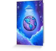 Earth UFO Greeting Card