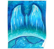 Teal Earth Angel Poster
