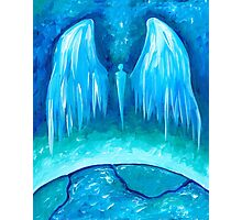 Teal Earth Angel Photographic Print