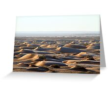 Tunisia: frozen dunes Greeting Card