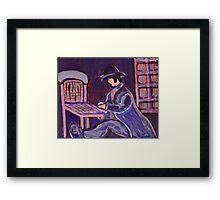 The chair mender Framed Print