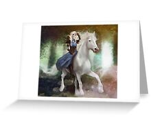 White Fire - Full Image  Greeting Card