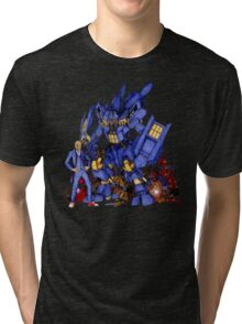 12th Doctor with Dalek Buster Tri-blend T-Shirt