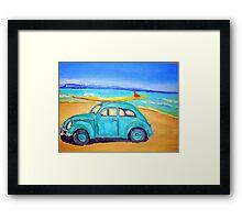 Green VW Framed Print