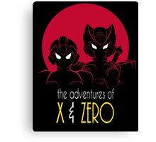 The Adventures of X & Zero Canvas Print