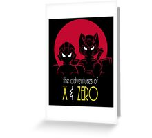The Adventures of X & Zero Greeting Card