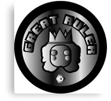 Great Ruler (Silver) Canvas Print