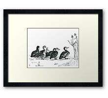 whats that? -pen and ink  Framed Print