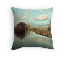 River Itchin from Five Bridges Road Throw Pillow