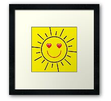 Happy Sunshine Love Framed Print