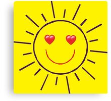 Happy Sunshine Love Canvas Print