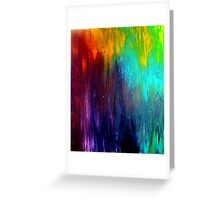 Abstract Painting on Canvas Titled: Wild Color Greeting Card