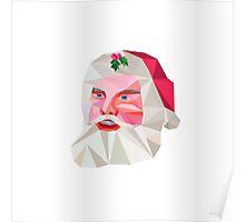 Santa Claus Father Christmas Low Polygon Poster