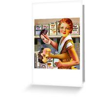 Post Vintage Dinner Lady. Greeting Card