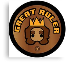 Great Ruler (Brown) Canvas Print