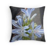 Agapanthus flooded Throw Pillow