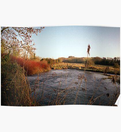 River Itchin, Nr. Tumbling Bay Poster