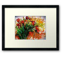 Flowers...Tulips Framed Print