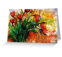 Flowers...Tulips Greeting Card
