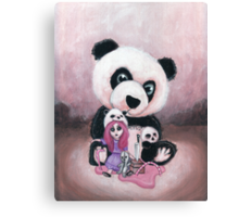 Candie and Panda Canvas Print