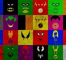 Minimalist Superhero Poster by Ryan Heller