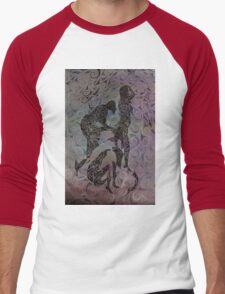 Blue Ladys Figurative Expressions Men's Baseball ¾ T-Shirt
