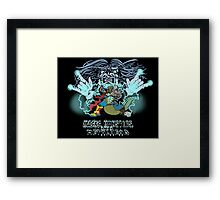 Wizard and Three-Headed Monster logo Framed Print