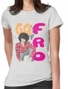 Go With The 'Fro Womens Fitted T-Shirt