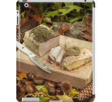 Autumnal still life composition with lard and bread iPad Case/Skin