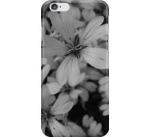 Flowers - Black and White iPhone Case/Skin