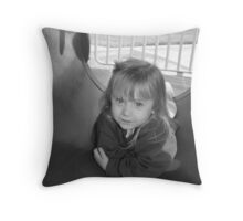 Portrait in a Tunnel Throw Pillow