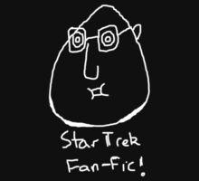 Star Trek Fan-fic (white on black) by chinfacedesigns