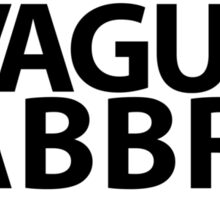 Vague Abbr. Sticker Sticker