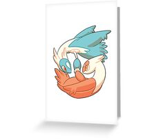 Latios and Latias Greeting Card